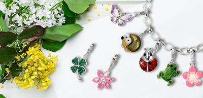 Charms mit Frühlingsmotiven